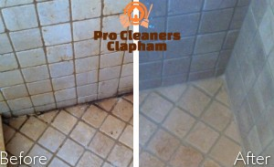 Bathroom before and after the cleaning