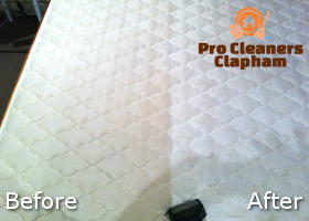 Before and After Cleaning of a Mattress